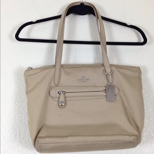 Authentic Tan Coach Shoulder Bag Purse
